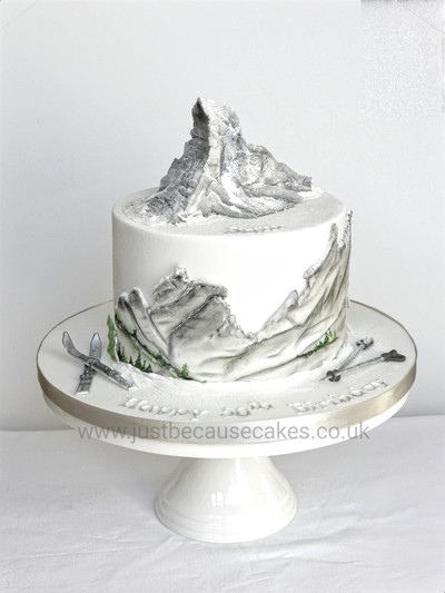 3D Matterhorn Mountain Cake, Just Because Cakes, Cakes in Burnham, Buckinghamshire